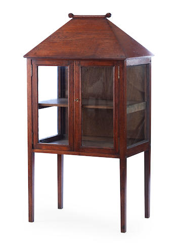 A 19th century mahogany display cabinet