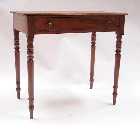 A late Regency mahogany side table