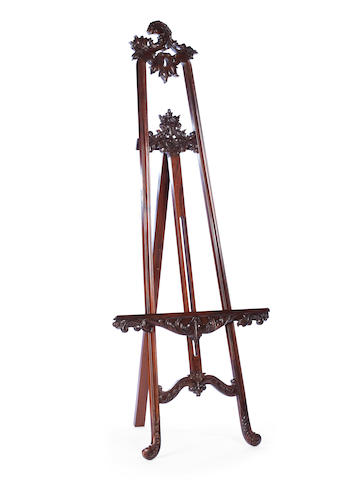 A 20th century mahogany picture easel