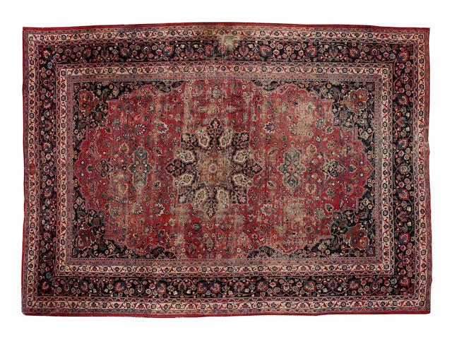 """A Meshed carpet 525cm x 365cm (17'3"""" x 12')."""