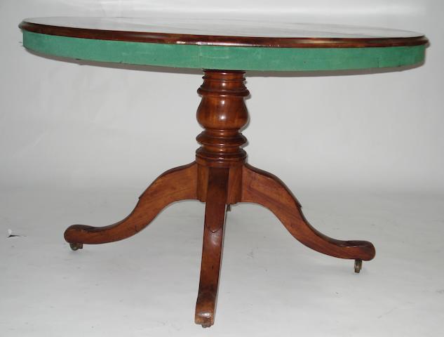 A Victorian mahogany breakfast table