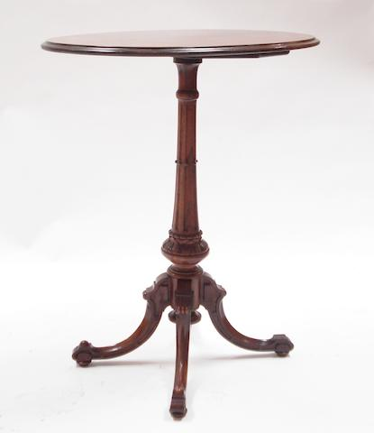 A Scottish Victorian rosewood occasional tableStamped 'John Taylor & Son, Manufacturers, Edinburgh'
