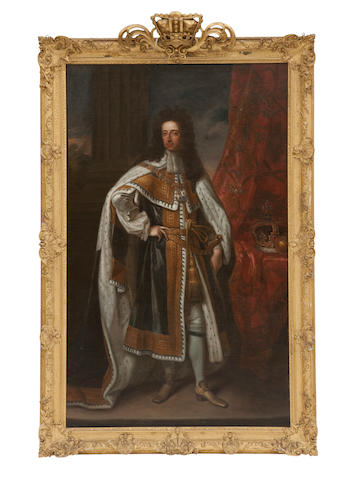 After Sir Godfrey Kneller A full length portrait of William III