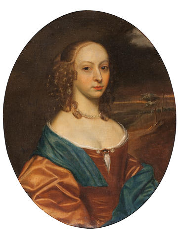 Circle of John Hayls (active England, circa 1600-1679) Portrait of a lady with ringlets