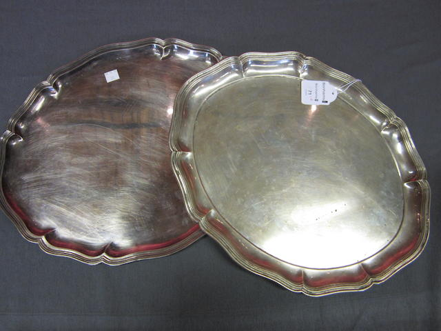 A German metalware tray Unmarked  (2)