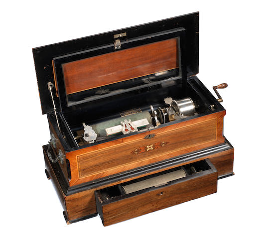 An interchangeable musical box, by Mermod Freres, circa 1899, for the American Market,