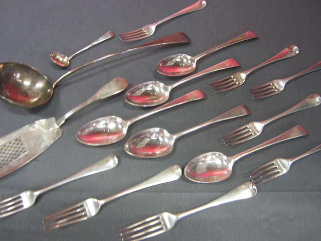 A quantity of George III and Victorian Old English and Hanoverian pattern  flatware,  (64)