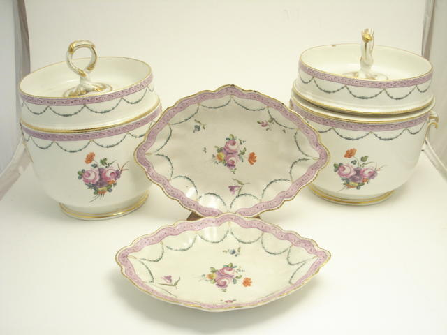 A Derby part dessert service 19th century