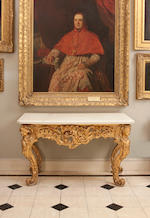A George II style giltwood side table, second quarter 19th centuryIn the style of Thomas Johnson,