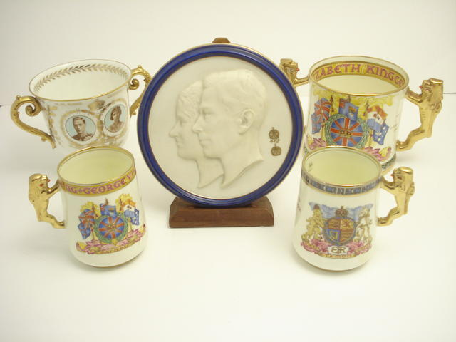 A collection of Royal commemorative china