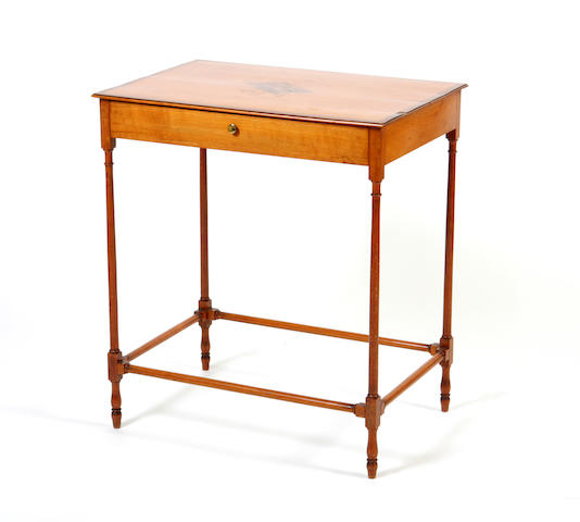 A late George III satinbirch side table