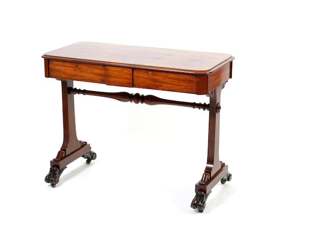 An early Victorian mahogany side table