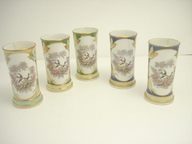 Five spill vases, possibly Ridgway Early 19th century