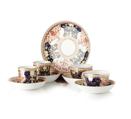 A Spode Imari part tea and coffee service 19th century