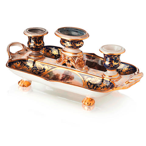 A Royal Crown Derby pen tray Circa 1780