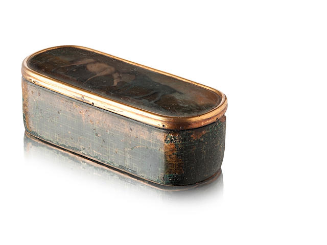 A 19th century tartan ware rounded rectangular snuff box