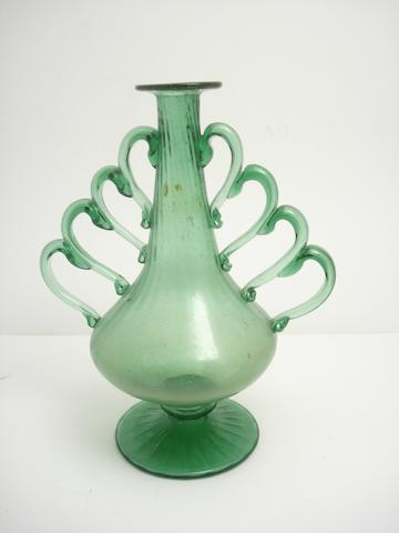 A continental green glass vase Circa 1900