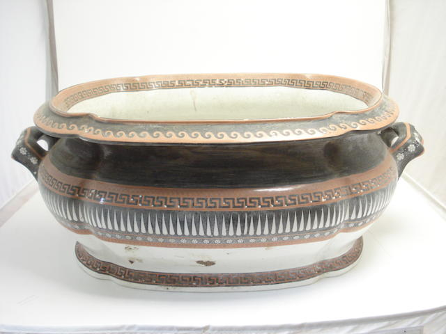 A large Copeland foot bath Late 19th century