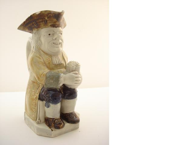 An English pottery Toby jug Circa 1800