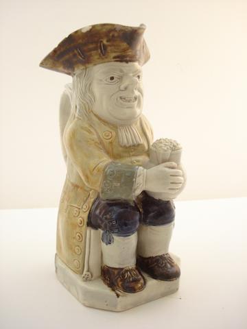 An English pottery Toby jug Circa 1800