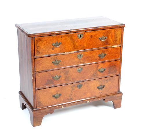 An 18th century style walnut secretaire chest of drawers