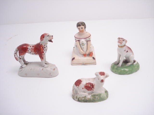 Four small Staffordshire figures Early 19th century