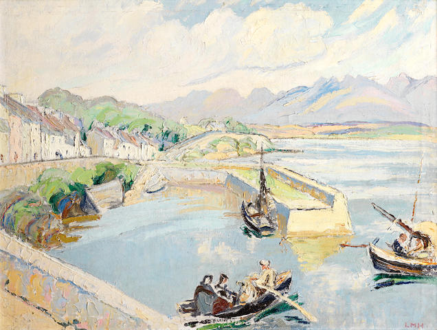 Letitia Marion Hamilton R.H.A. (Irish, 1878-1964) Roundstone harbour, Co. Galway 50.9 x 66 cm. (20 x 26 in.)