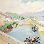 Letitia Marion Hamilton R.H.A. (Irish, 1878-1964) Roundstone harbour 50.9 x 66 cm. (20 x 26 in.)
