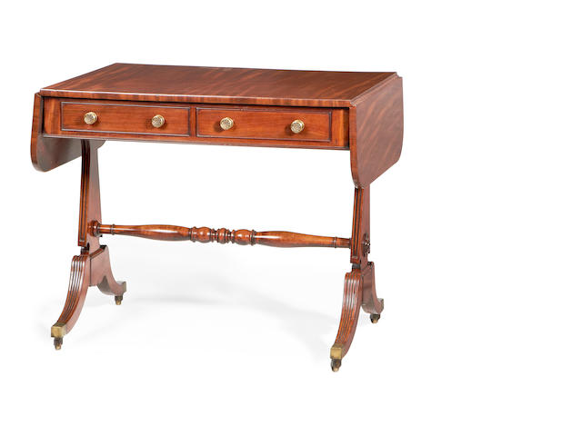 A late Regency mahogany sofa table