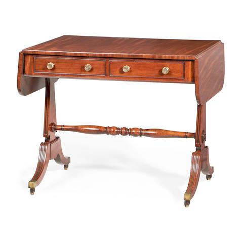 A late Regency mahogany sofa table