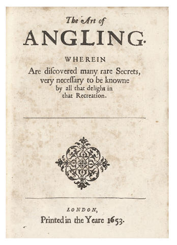 BARKER (THOMAS)] The Country-mans Recreation, or the Art of Planting, Grassing, and Gardening in Three Books... Hereunto is Likewise Added the Art of Angling, 1654