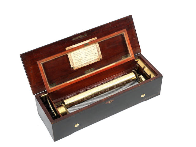 A musical box playing eight airs, by Nicole Frères, circa 1861,