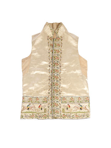 An early 19th century embroidered gentleman's waistcoat, dated 1819