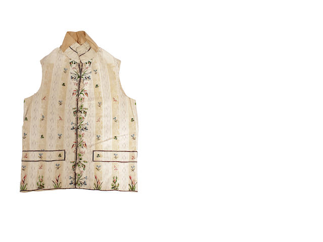 An early 19th century embroidered gentleman's waistcoat