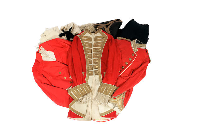 A group of 19th century livery and regimental clothing