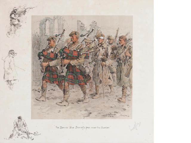 Charlie Johnson Payne, 'Snaffles' (British, 1884-1967) 'The Bonnie Blue Bonnets frae ower the Border.'