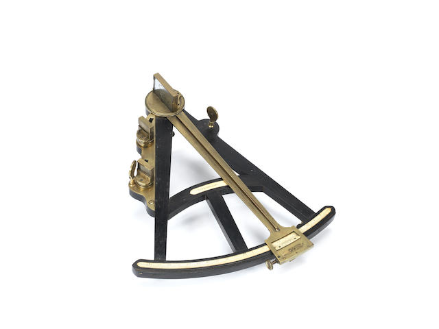 A Cook ebony and ivory octant,  English,  circa 1820,