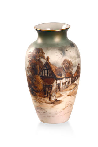 A pair of Royal Worcester Vases 1910