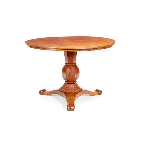 A Charles X mahogany centre table