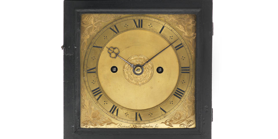 A table clock by Samuel Knibb