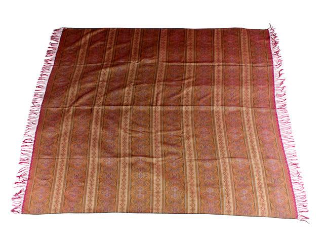 A woven silk paisley shawl, circa 1830s