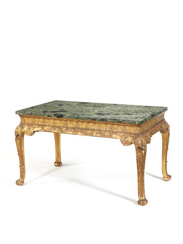 A George I style Irish carved giltwood centre table