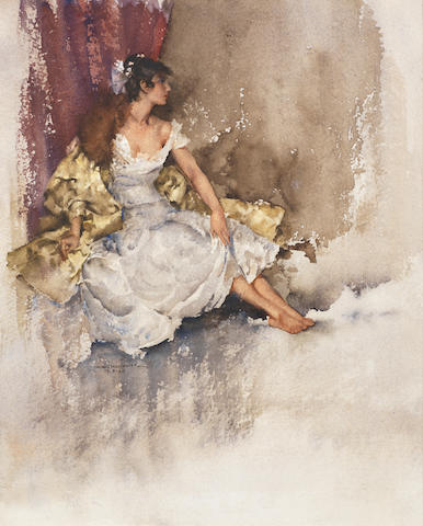 William Russell Flint (Scottish, 1880-1969) Cecilia 30.5 x 24.7 cm. (12 x 9 3/4)