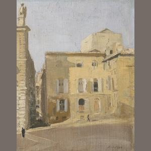 William Nicholson, La Place des Papes, Avignon - oil