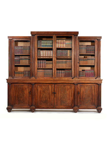 A Regency mahogany library bookcase attributed to Seddon