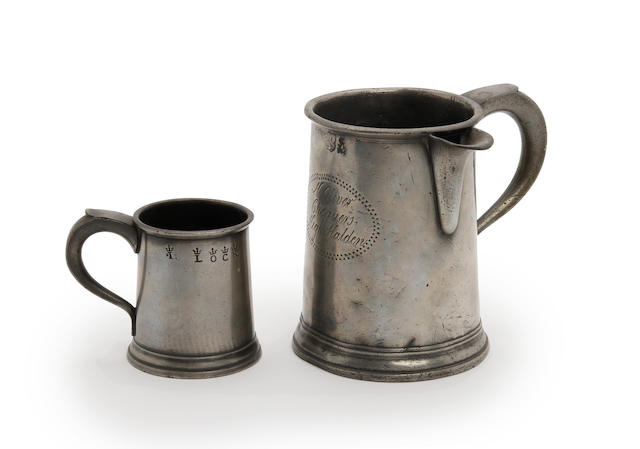 Two Pre-Imperial straight-sided mugs