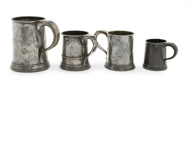 A Pre-Imperial straight-sided quart mug, circa 1750