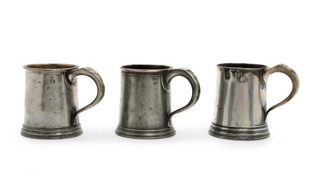A pre-Imperial pint mug, circa 1800