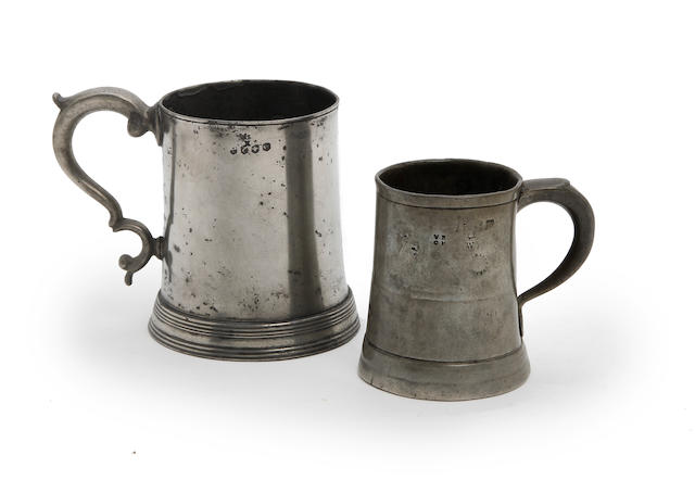 Two Shrewsbury Pre-Imperial mugs, circa 1770
