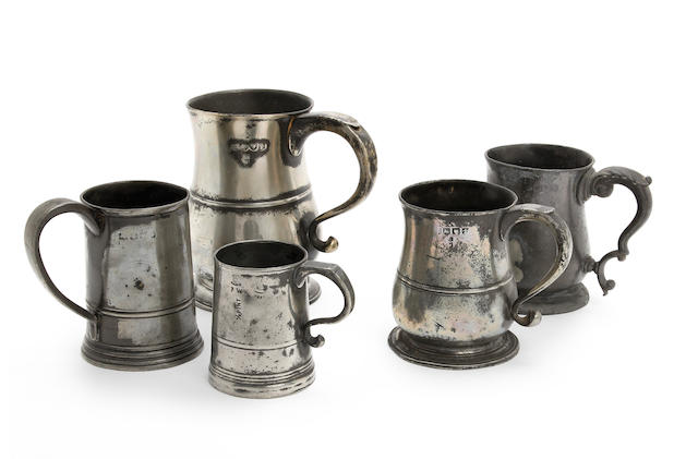 Four Bewdley Pre-Imperial mugs